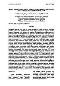 MODEL PERENCANAAN RUANG TERBUKA HIJAU TAMAN LINGKUNGAN DI KOTA BANJARBARU, KALIMANTAN SELATAN. Fakultas Kehutanan Universitas Lambung Mangkurat 3)