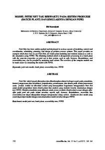 MODEL PETRI NET TAK BERWAKTU PADA SISTEM PRODUKSI (BATCH PLANT) DAN SIMULASINYA DENGAN PIPE2