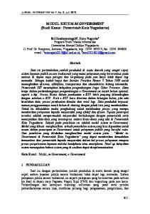 MODEL SISTEM M-GOVERNMENT (Studi Kasus : Pemerintah Kota Yogyakarta)