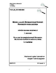 MODELLALAPÚ SZEMANTIKUS KERESŐ RENDSZER KIDOLGOZÁSA