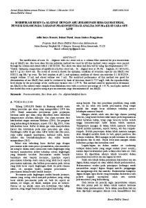 MODIFIKASI RESIN Ca-ALGINAT DENGAN ABU JERAMI PADI SEBAGAI MATERIAL PENGISI KOLOM PADA TAHAPAN PRAKONSENTRASI ANALISA ION Mn (II) SECARA OFF- LINE