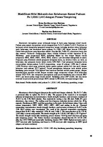 Modifikasi Sifat Mekanik dan Ketahanan Korosi Paduan Fe-1,52Al-1,44C dengan Proses Tempiring