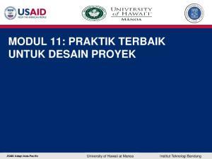 MODUL 11: PRAKTIK TERBAIK UNTUK DESAIN PROYEK. USAID Adapt Asia-Pacific