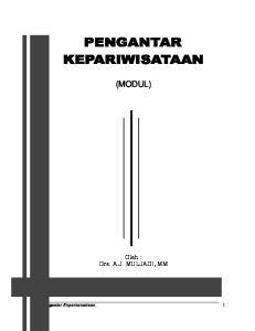 (MODUL) ingka t Dasar Modul I. Oleh : Drs. A.J. MULJADI, MM. Pengantar Kepariwisataan 1