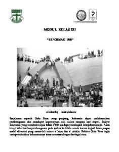 MODUL KELAS XII REFORMASI 1998