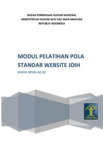 MODUL PELATIHAN POLA STANDAR WEBSITE JDIH