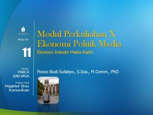 Modul Perkuliahan X Ekonomi Politik Media