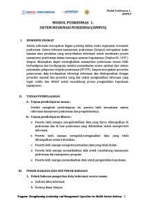 MODUL PUSKESMAS 1. SISTEM INFORMASI PUSKESMAS (SIMPUS)