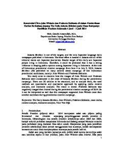 Moh. Gandhi Amanullah, M.A. Departemen Sastra Jepang, Fakultas Ilmu Budaya Universitas Airlangga Surabaya