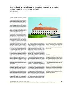 Monastická architektura v ãesk ch zemích a promûny jejího vyuïití v prûbûhu staletí