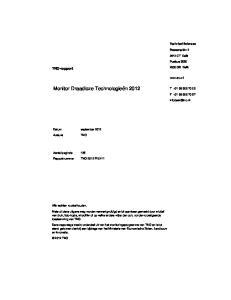 Monitor Draadloze Technologieën 2012