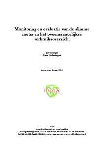 Monitoring en evaluatie van de slimme meter en het tweemaandelijkse verbruiksoverzicht
