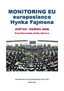 MONITORING EU europoslance Hynka Fajmona
