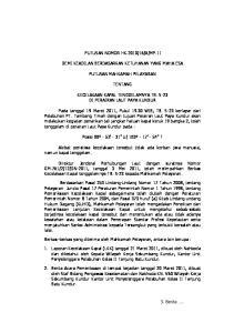 MP.11 DEMI KEADILAN BERDASARKAN KETUHANAN YANG MAHA ESA PUTUSAN MAHKAMAH PELAYARAN TENTANG