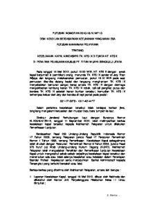 MP.13 DEMI KEADILAN BERDASARKAN KETUHANAN YANG MAHA ESA PUTUSAN MAHKAMAH PELAYARAN TENTANG