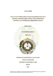 Muhammad Imran : Pengawasan Intern Aktiva Tetap Pada Koperasi Pegawai Republik Indonesia (KPRI) Media Dinas Komunikasi Informasi dan Informatika