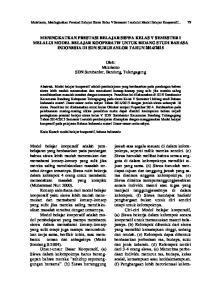 Mukrianto, Meningkatkan Prestasi Belajar Siswa Kelas V Semester I melalui Model Belajar Kooperatif... 79