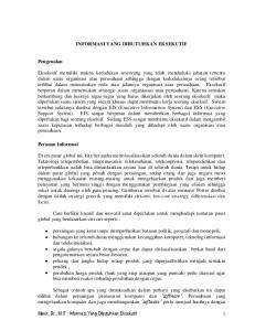 Munir, Dr., M.IT : Informasi Yang Dibutuhkan Eksekutif 1