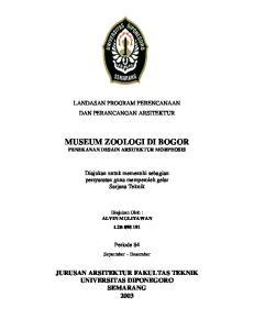 MUSEUM ZOOLOGI DI BOGOR PENEKANAN DESAIN ARSITEKTUR MORPHOSIS