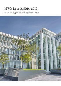 MVO-beleid a.s.r. vastgoed vermogensbeheer