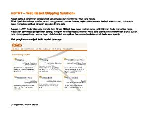 mytnt Web Based Shipping Solutions