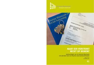 Naar een versterkt recht op wonen? Aanbevelingen van de Vlaamse Woonraad, met pleidooi voor een Vlaamse woonrechtcommissaris