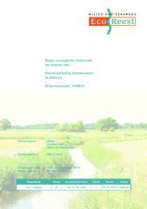 Nader ecologische onderzoek ter plaatse van: Herontwikkeling Sinnebuorren te Akkrum. Projectnummer: