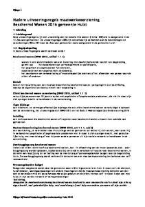 Nadere uitvoeringsregels maatwerkvoorziening Beschermd Wonen 2016 gemeente Hulst
