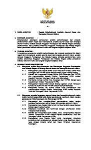 NAMA JABATAN : Kepala Subdirektorat Analisis Asumsi Dasar dan Kerangka Ekonomi Makro