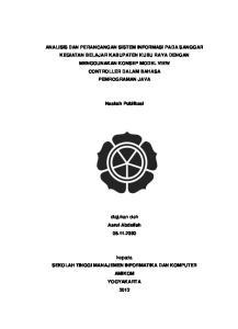 Naskah Publikasi. diajukan oleh Asrul Abdullah