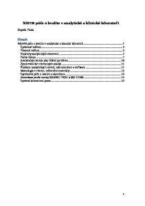 NÁSTIN péče o kvalitu v analytické a klinické laboratoři