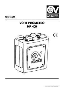 Návod k použití VORT PROMETEO HR 400