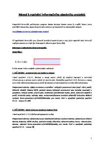 Návod k vyplnění Informačního zásobníku projektů