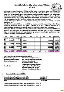 Návrh Závěrečného účtu Mikroregionu Přešticko rok 2012