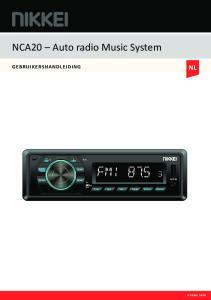 NCA20 Auto radio Music System