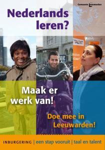 Nederlands leren? Maak er werk van! Doe mee in Leeuwarden!