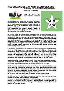 NEDERLANDSE JAVAKRIELENFOKKERS OP BEZOEK AAN DE DISTRICTSHOW DE STER MEEUWEN IN BELGIE