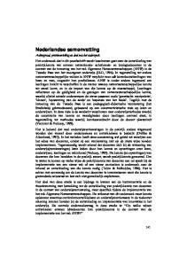 Nederlandse samenvatting