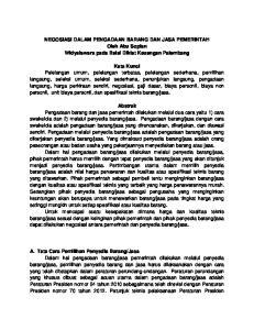 NEGOSIASI DALAM PENGADAAN BARANG DAN JASA PEMERINTAH Oleh Abu Sopian Widyaiswara pada Balai Diklat Keuangan Palembang