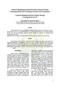 Nelayan Melalui Pembelajaran Berbasis Teknologi Informasi dan Komunikasi