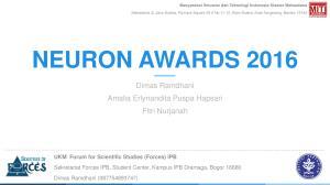 NEURON AWARDS Dimas Ramdhani Amalia Erlynandita Puspa Hapsari Fitri Nurjanah