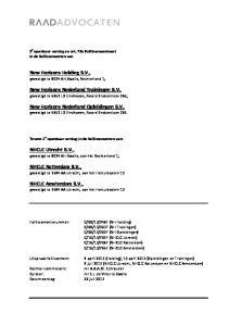 New Horizons Holding B.V., gevestigd te 8024 AH Zwolle, Rechterland 1;