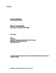 Nieuwe technologieën Rapportage ten behoeve van SGZ-2008