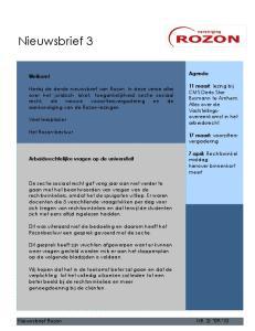 Nieuwsbrief 3. Agenda. Welkom! 11 maart: lezing bij CMS Derks Star Busmann te Arnhem. Alles over de Vaststellingsovereenkomst