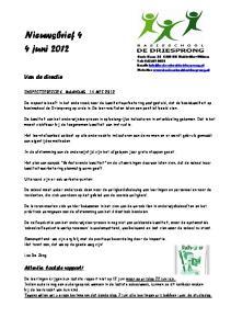 Nieuwsbrief 4 4 juni 2012