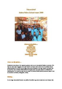 Nieuwsbrief Bolera Palms School maart 2009