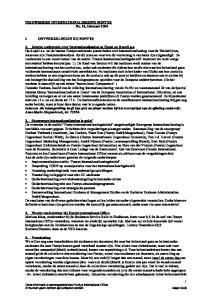 NIEUWSBRIEF INTERNATIONALISERING FONTYS No. 11, februari 2004 I. ONTWIKKELINGEN BIJ FONTYS