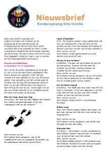 Nieuwsbrief. Kinderopvang Kits Oonlie. Reuzen en kabouters