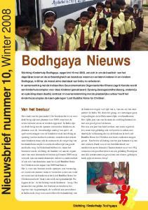 Nieuwsbrief nummer 10, Winter Van het bestuur. Stichting Kinderhulp Bodhgaya