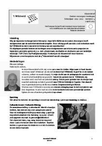 Nieuwsbrief Ouders-verzorgers-leerlingen Schooljaar: nummer: 4 2 april 2012